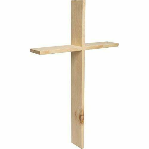 Croce da Parete in Vero Legno di cembro, 40 x 25 x 5 cm, in