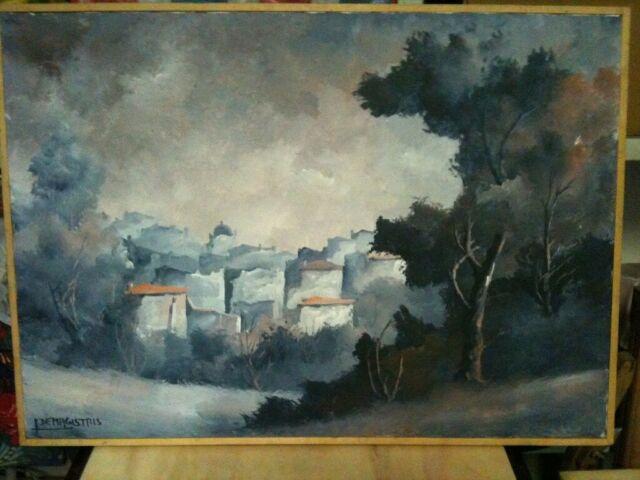 Leonardo De Magistris - Paesaggio dipinto ad olio su tela