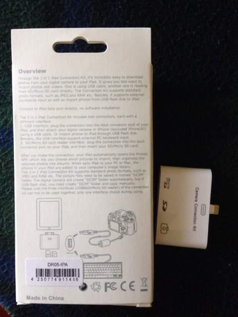 IPad Connection Kit 3 in 1 per iPad 4 e iPad Mini