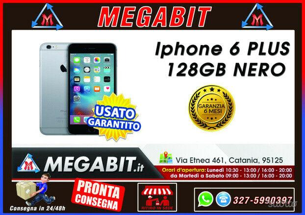 Iphone 6 plus 128gb nero con garanzia