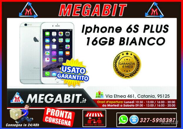 Iphone 6s plus 16gb bianco con garanzia