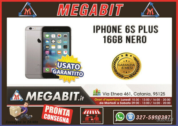Iphone 6s plus 16gb nero con garanzia