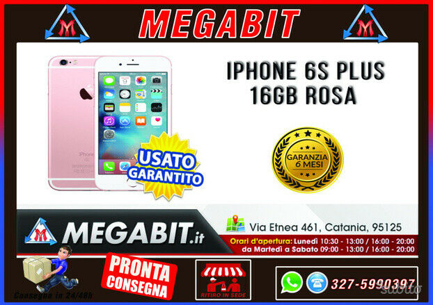 Iphone 6s plus 16gb rosa con garanzia