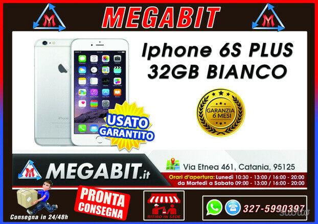 Iphone 6s plus 32gb bianco con garanzia