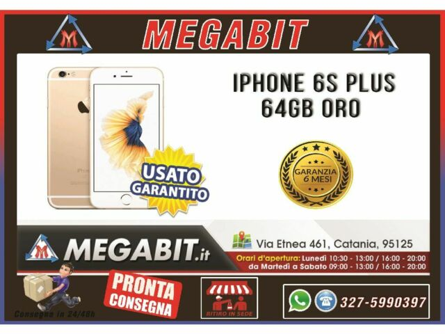 Iphone 6s plus 64gb Oro con Garanzia