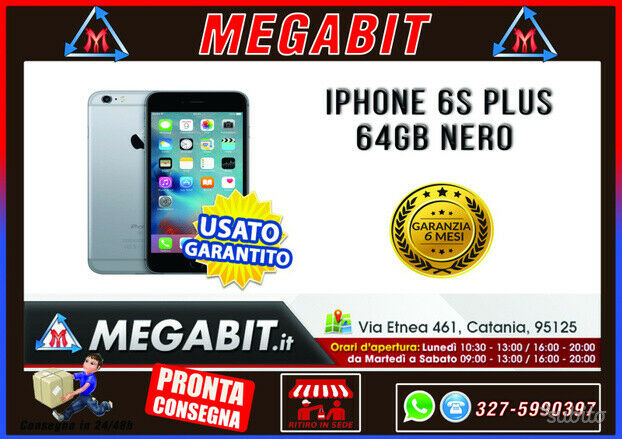 Iphone 6s plus 64gb nero con garanzia