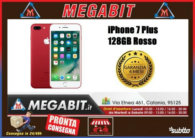 Iphone 7 Plus 128gb Rosso con Garanzia