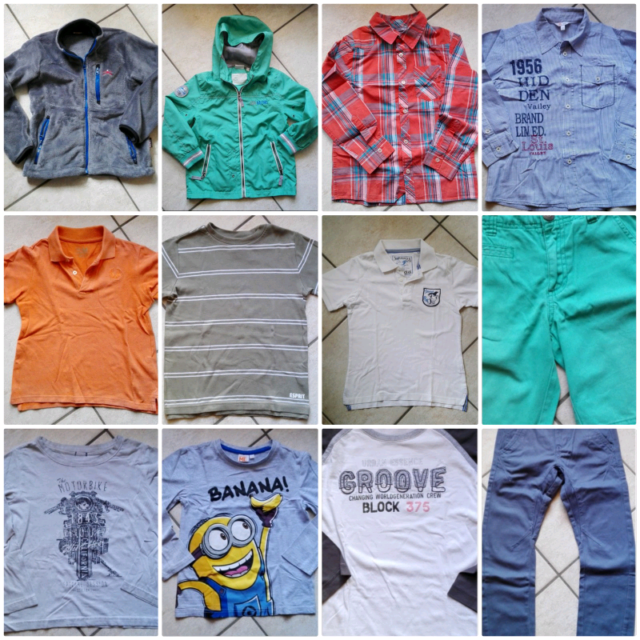 12 capi di abbigliamento per bambino 6/7 anni