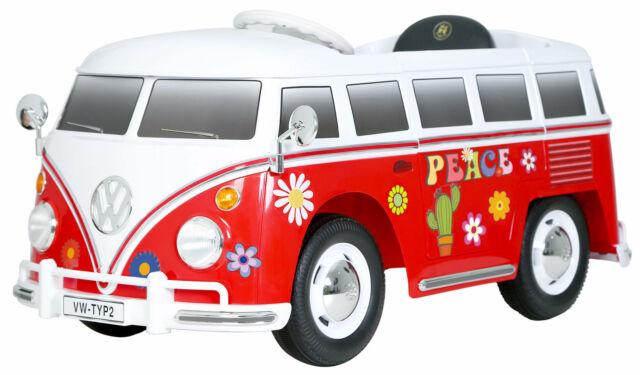 Bus Elettrico Per Bambini 6v Volkswagen W Bus T2 Flower