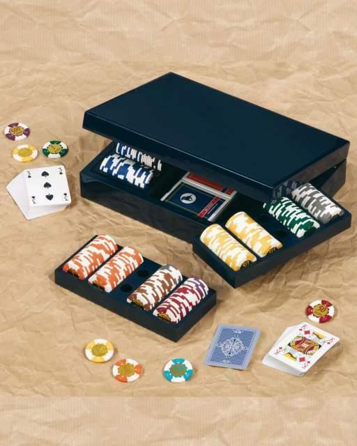 Elegante scatola in legno dal negro,poker texas