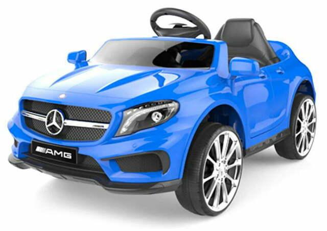 Macchina Elettrica Per Bambini 12v Mercedes Gla 45 Amg Blu