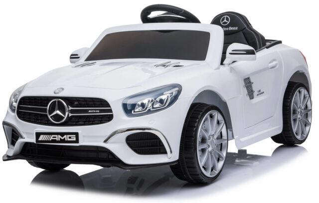Macchina Elettrica Per Bambini 6v Mercedes Sl63 Amg Bianca