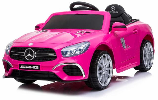 Macchina Elettrica Per Bambini 6v Mercedes Sl63 Amg Rosa