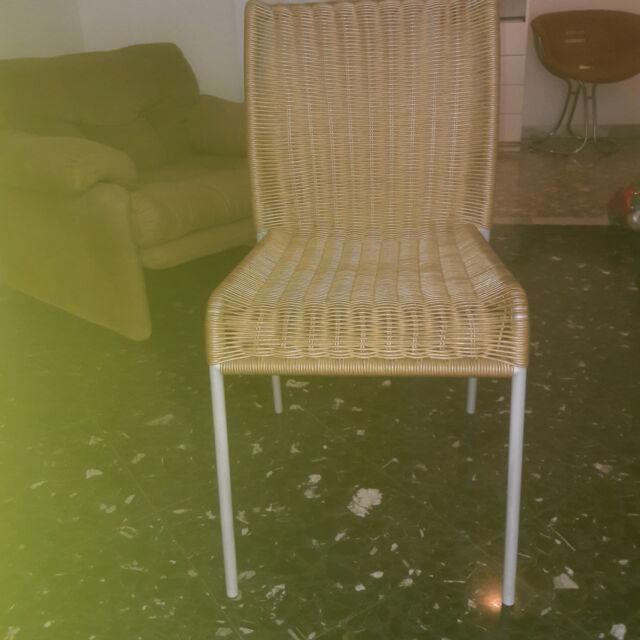 6 sedie di design in finto midolllino