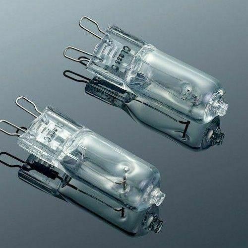 Coppia lampade alogene 25w lampadina alogena attacco g9