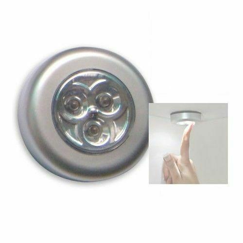 Lampada adesiva 3 led basso consumo punto luce notturna