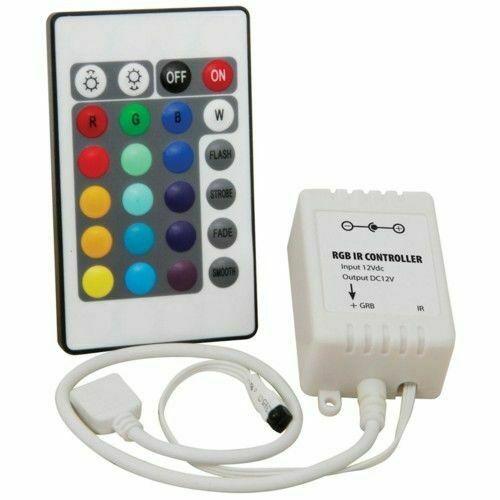 Led controller striscia rgb con telecomando alimentatore 2a