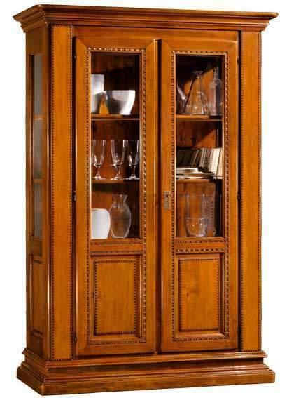 Mobile Cristalliera cod 004 in Stile Classico Arte Povera