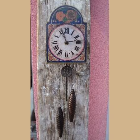 Orologio a pendolo con 2 pesi epoca 800 funzionante