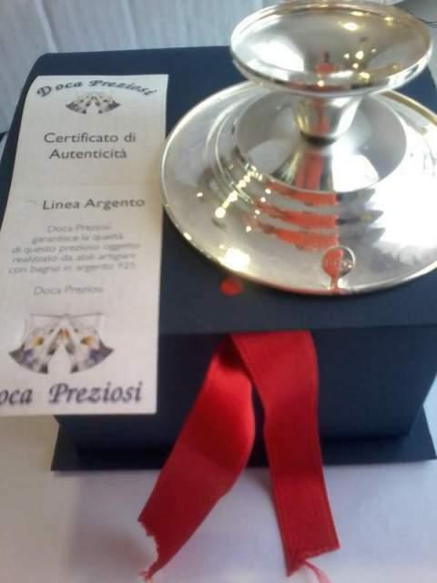 Porta candela in argento 925