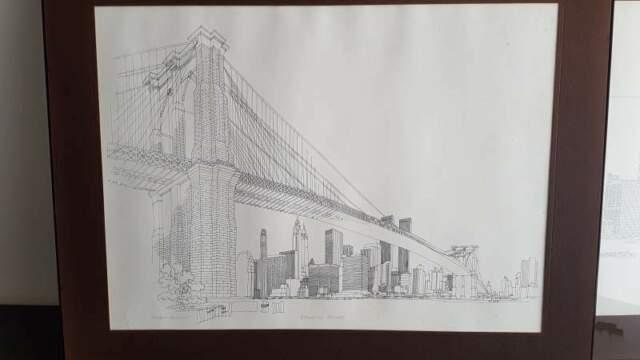 """Richard Welling """"Brooklyn Bridge"""",New York,stampa timbro a"""