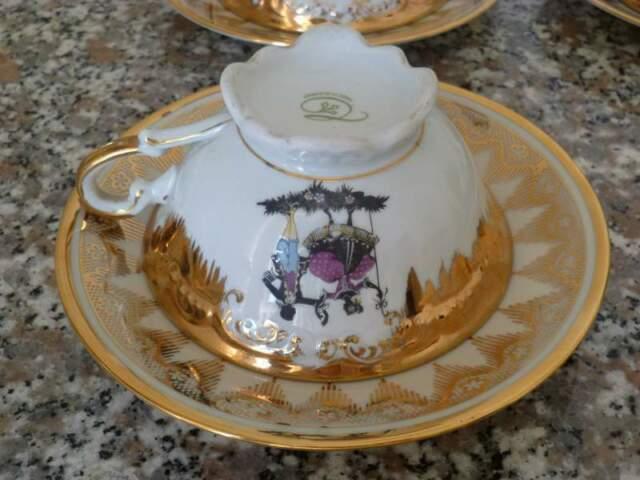 Tazze con piattini ceramica Baviera anni 50