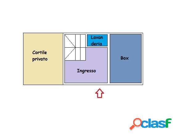 porzione di casa con terrazzo e cortile privato