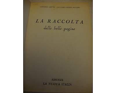 """La raccolta delle belle pagine"""" Antologia Lett """"la nuova"""