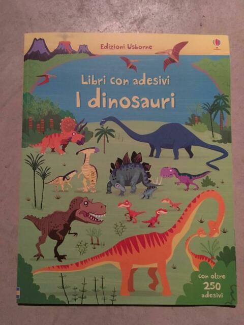 NUOVO. Libro con adesivi. I dinosauri. Usborne.