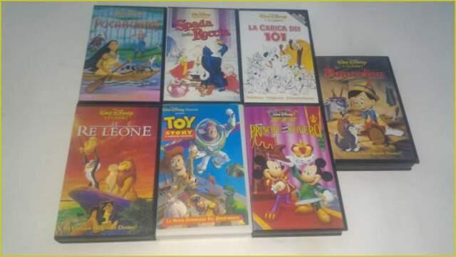 VHS Videocassette Cartoni Animati Vari