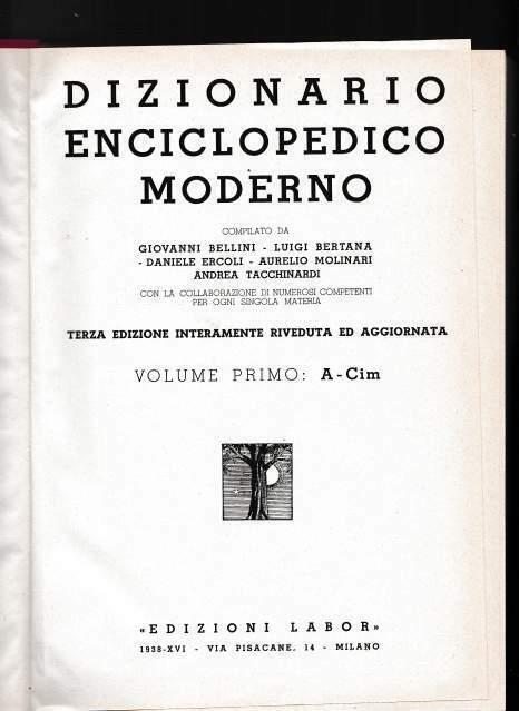 n. 4 volumi dizionario enciclopedico moderno ed labor