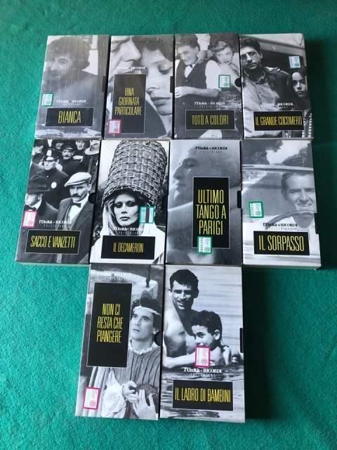 VHS Originali Varie Italia Lotto Videocassette Ricordi
