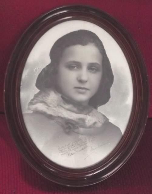 Cornice ovale in legno con foto epoca fascista