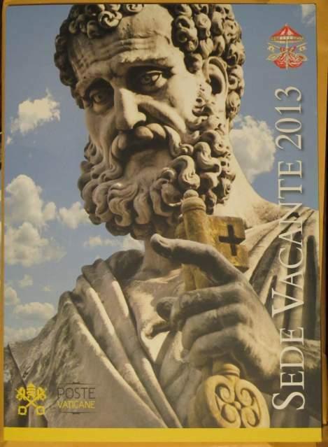 Folder francobolli Vaticano Sede Vacante - Papa Benedetto