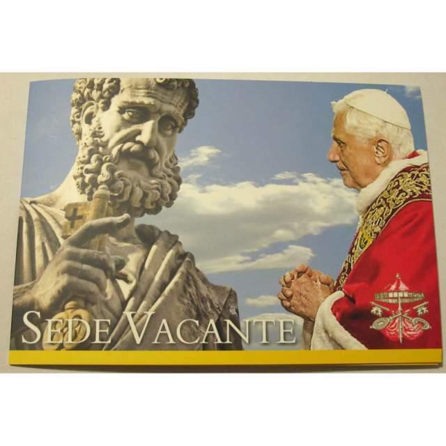 Folder francobolli Vaticano Sede Vacante - dimissioni