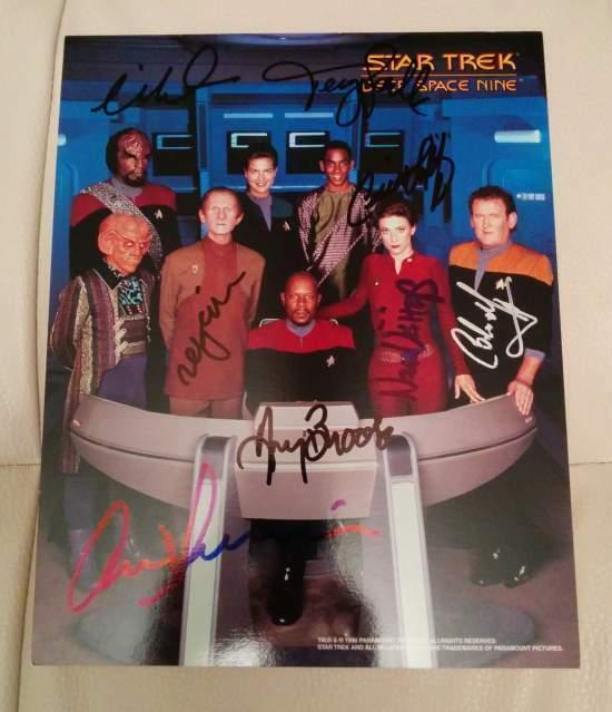 Star Trek Deep Space Nine - Foto autografi originali