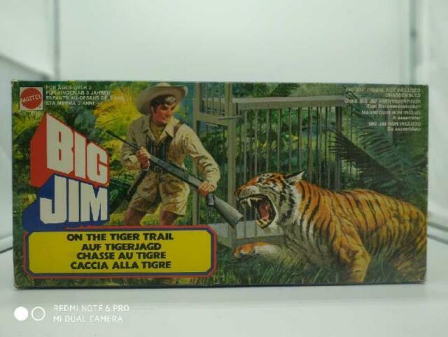 Gioco big jim mattel tigre tiger gabbia