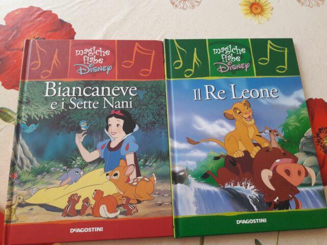 2 Libri per bambini Biancaneve e il re Leone