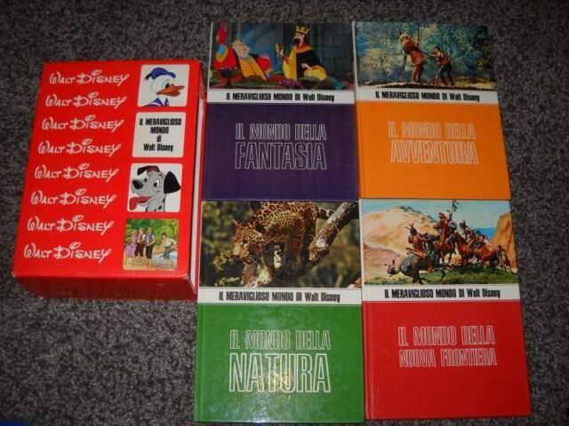 Il meraviglioso mondo walt disney 4 volumi anni '70