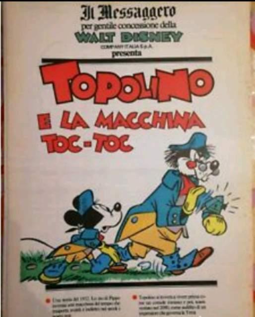 """TOPOLINO E LA MACCHINA TOC-TOC supplemento di Topolino """"Il"""