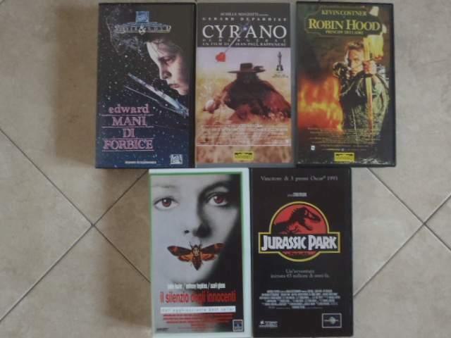 Videocassette vhs film vari anni '90