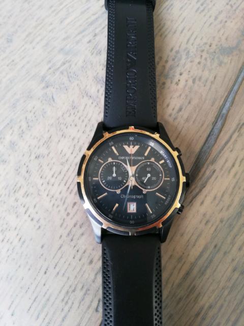 Mens Emporio Armani Chronograph Watch AR