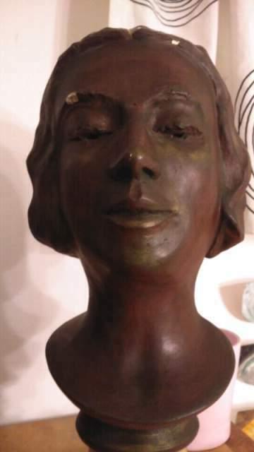 Antica scultura busto anni 40