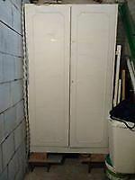 Armadio legno bianco 2 ante x ripostiglio 112x48x192h
