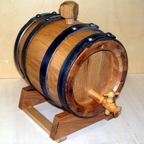 Botte da 2 litri professionale in legno di rovere, trasporto