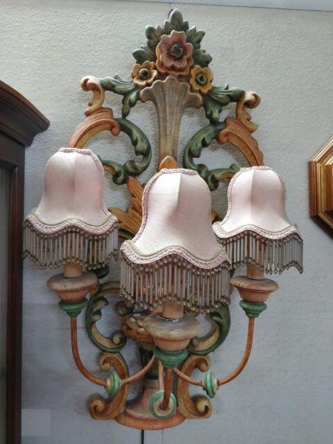 Grande lampada a tre luci da muro como' con accessori