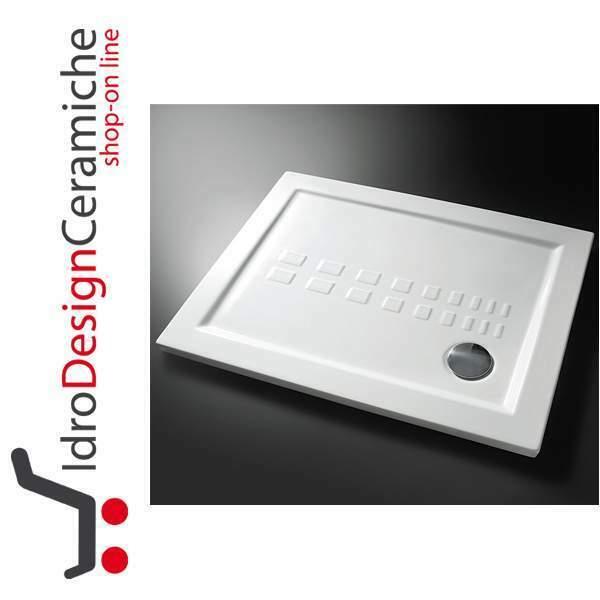 Piatto doccia in ceramica 90x90 ultra slim altezza 5,5 cm