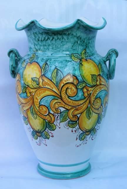 Portaombrelli in ceramica vietrese maiolicati a mano