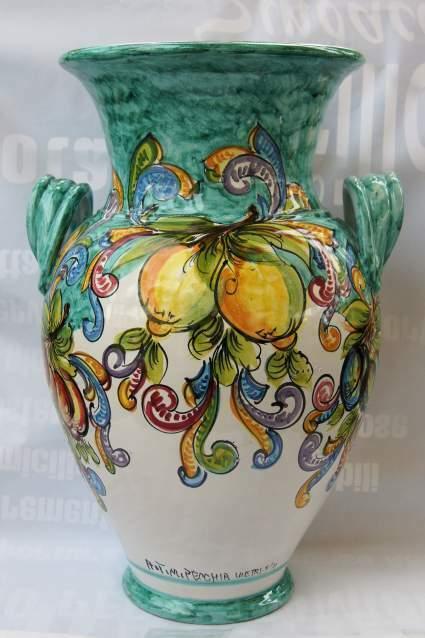 Portaombrelli in ceramica vietrese maiolicato a mano
