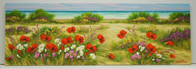Spiaggia - Olio su tela cm. 120 x 40